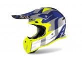Helmet Full-Face Off-Road Airoh Terminator Open Vision Shoot Blue Gloss
