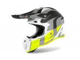 Helmet Full-Face Off-Road Airoh Terminator Open Vision Shoot Yellow Matt