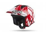 Helmet Jet On-Off Airoh Trr S Convert Red Gloss