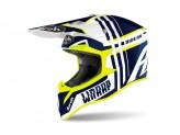 Helmet Full-Face Off-Road Airoh Wraap Broken Blue Gloss