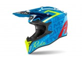 Helmet Full-Face Off-Road Airoh Wraap Street Azure Gloss