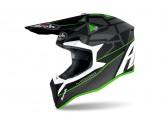 Helmet Full-Face Off-Road Airoh Wraap Mood green matt
