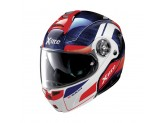 Helmet Flip-Up Full-Face X-Lite X-1004 Ultra Carbon 12 Tinto Blue Glossy White