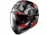 Helmet Flip-Up Full-Face X-Lite X-1004 Dedalon 31 Matt Black Red