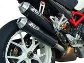 ZD024HSO-1 - Exhaust Mufflers Zard Overlapped Carbon Ducati Monster S2R (06-08)