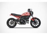ZD784TKR - Full Exhaust Zard Conical Titanium  Ducati Scrambler Sixty2 (16-19)