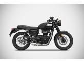 ZTPH072SKR - Full Exhaust Zard Stainless Steel Triumph Bonneville T100 (17-19)