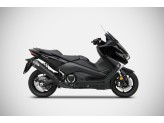 ZY098SKR-FC - Full Exhaust Zard Conical SS Carbon End Cap Yamaha TMAX (17-19)