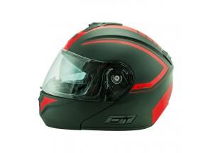 Helmet Flip-Up Full-Face Nos NS-8 Triton Fluor Red Matt