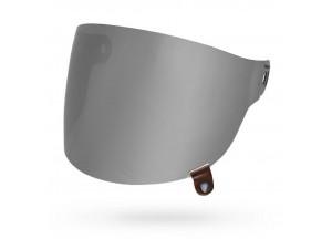 8013384 - Visor Bell Bullitt Flat Silver Iridium With Brown Tab