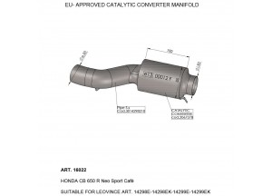 16022 - Exhaust Mid Pipe LeoVince catalysed