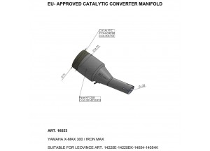 16023 - Exhaust Mid Pipe LeoVince catalysed
