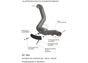 16024 - Exhaust Mid Pipe LeoVince catalysed