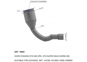 16025 - Exhaust Mid Pipe LeoVince catalysed