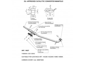 16027 - Exhaust Mid Pipe LeoVince catalysed