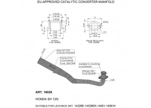 16028 - Exhaust Mid Pipe LeoVince catalysed