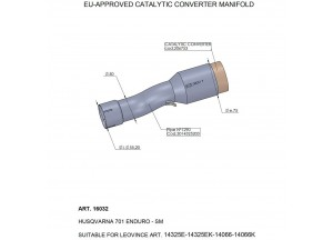 16032 - Exhaust Mid Pipe LeoVince catalysed