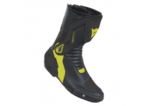 Leather Boots Racing Dainese Nexus Dainese Black/Fluo-Yellow
