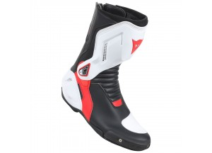 Leather Boots Racing Dainese Nexus Dainese Black/White/Lava-Red