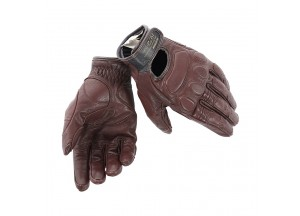 Vintage Leather Gloves Summer Dainese Blackjack Dark Brown