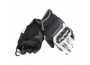 Motorcycle Short Gloves Dainese  Carbon D1 Black/White/Anthracite