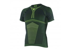 Shirt Thermal Moto Dainese D-Core Dry Tee SS Black/Fluo-Yellow