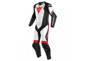 Leather Suit Dainese Laguna Seca 4 2 Pieces Matt Black White Red