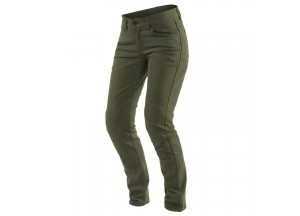 Pants Dainese Classic Casual Slim Lady Tex Olive