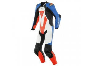 Leather Suit Dainese Laguna Seca 5 1PC White/Light-Blue/Black/Fluo-Red