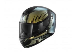 Full-Face Helmet Shark D-SKWAL 2 Dharkov Mat Black Green Glitter