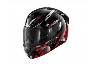 Full-Face Helmet Shark D-SKWAL 2 Kanhji Glossy Black White Red