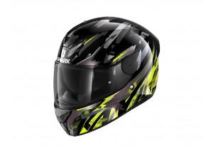 Full-Face Helmet Shark D-SKWAL 2 Kanhji Glossy Black Yellow Anthracite