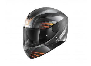 Full-Face Helmet Shark D-SKWAL 2 Mercurium Mat Black Anthracite Orange