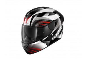 Full-Face Helmet Shark D-SKWAL 2 Mercurium Black White Red