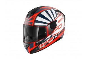 Full-Face Helmet Shark D-SKWAL 2 Replica Zarco 2019 Mat Orange White Blue