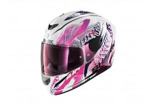 Full-Face Helmet Shark D-SKWAL 2 Shigan White Black Violet