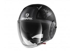 Jet Helmet Shark METRO SHARK NANO Tribute Rm White Silver