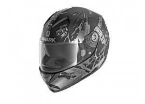 Full-Face Helmet Shark RIDILL DRIFT-R MAT Black Silver