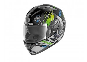 Full-Face Helmet Shark RIDILL DRIFT-R Black Green Blue