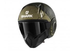 Jet Helmet Shark METRO STREET-DRAK CROWER MAT Black Green