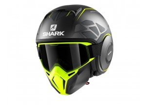 Jet Helmet Shark METRO STREET-DRAK HUROK MAT Black Yellow
