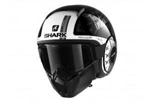 Jet Helmet Shark METRO STREET-DRAK TRIBUTE RM Black White