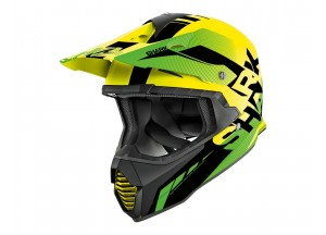Full-Face Helmet Off-Road Shark VARIAL ANGER Black Yellow Green