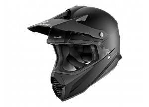 Full-Face Helmet Off-Road Shark VARIAL BLANK MAT Black