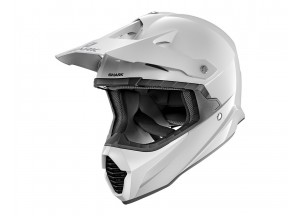 Full-Face Helmet Off-Road Shark VARIAL BLANK White