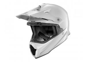 Full-Face Helmet Off-Road Shark VARIAL BLANK White