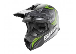 Full-Face Helmet Off-Road Shark VARIAL REPLICA TIXIER MAT Black Green