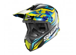 Full-Face Helmet Off-Road Shark VARIAL REPLICA TIXIER Black Blue Yellow