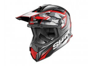 Full-Face Helmet Off-Road Shark VARIAL REPLICA TIXIER Black Red
