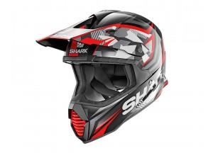 Full-Face Helmet Off-Road Shark VARIAL REPLICA TIXIER Black Red
